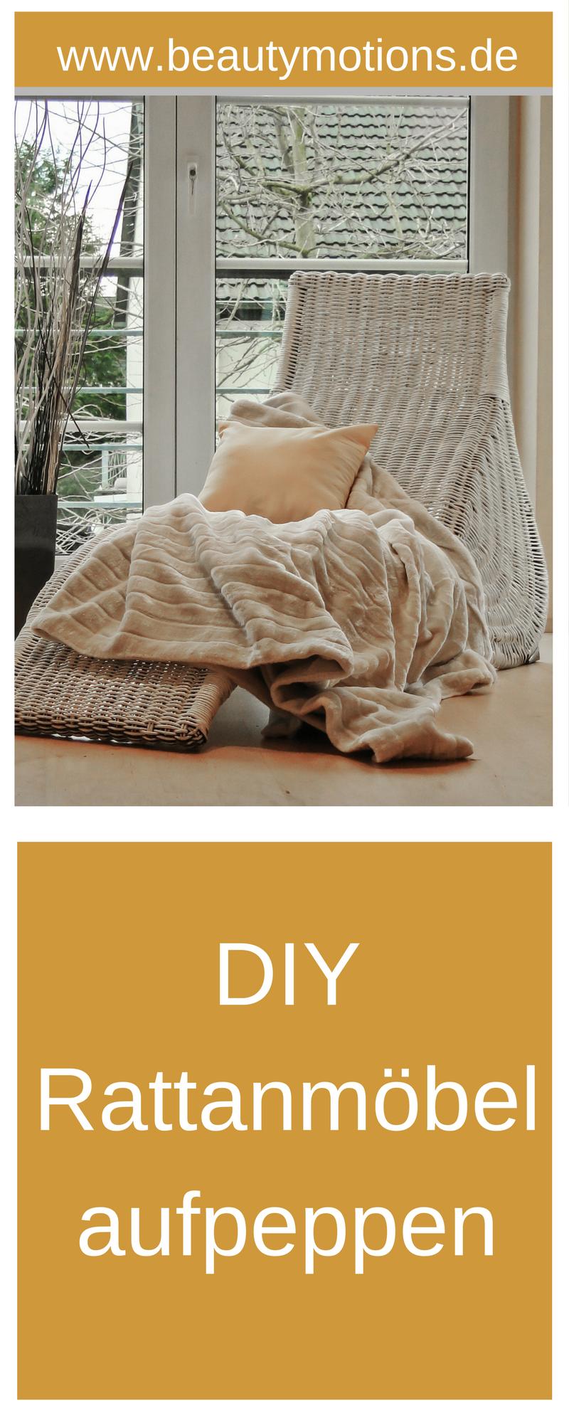 DIY - Korbmöbel aufpeppen - Rattanmöbel weiß streichen | Living spaces