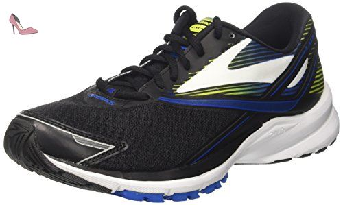 Brooks Launch 4, Chaussures de Gymnastique Homme, Noir (Black/Lapis Blue/Lime Popsicle), 42.5 EU