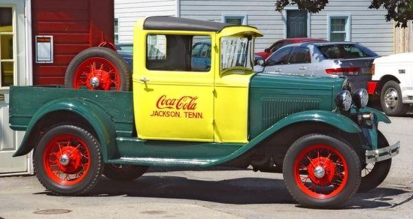 1930 Ford Model Closed Cab Pickup--Coca Cola Wagon by Cenika