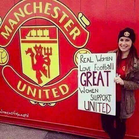 Real Women Love Football Great Women Support United Football Love Manchester United The Unit