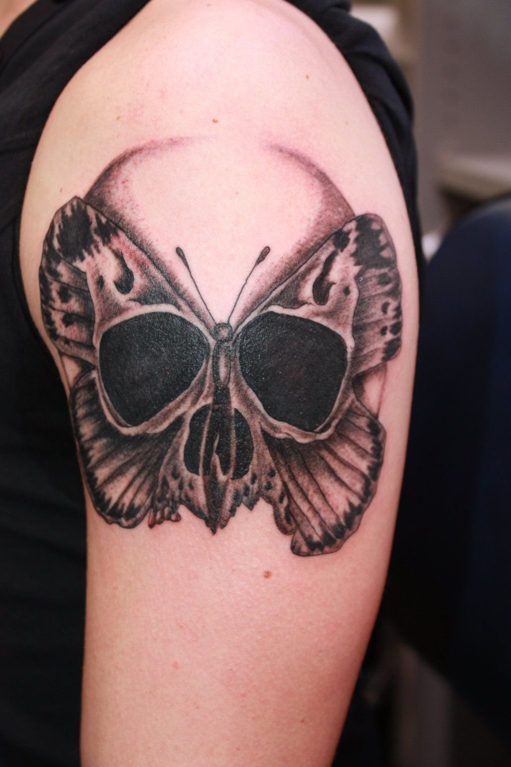 9be753f1f tattoo Skull-butterfly by fortuna15.deviantart.com on @DeviantArt ...