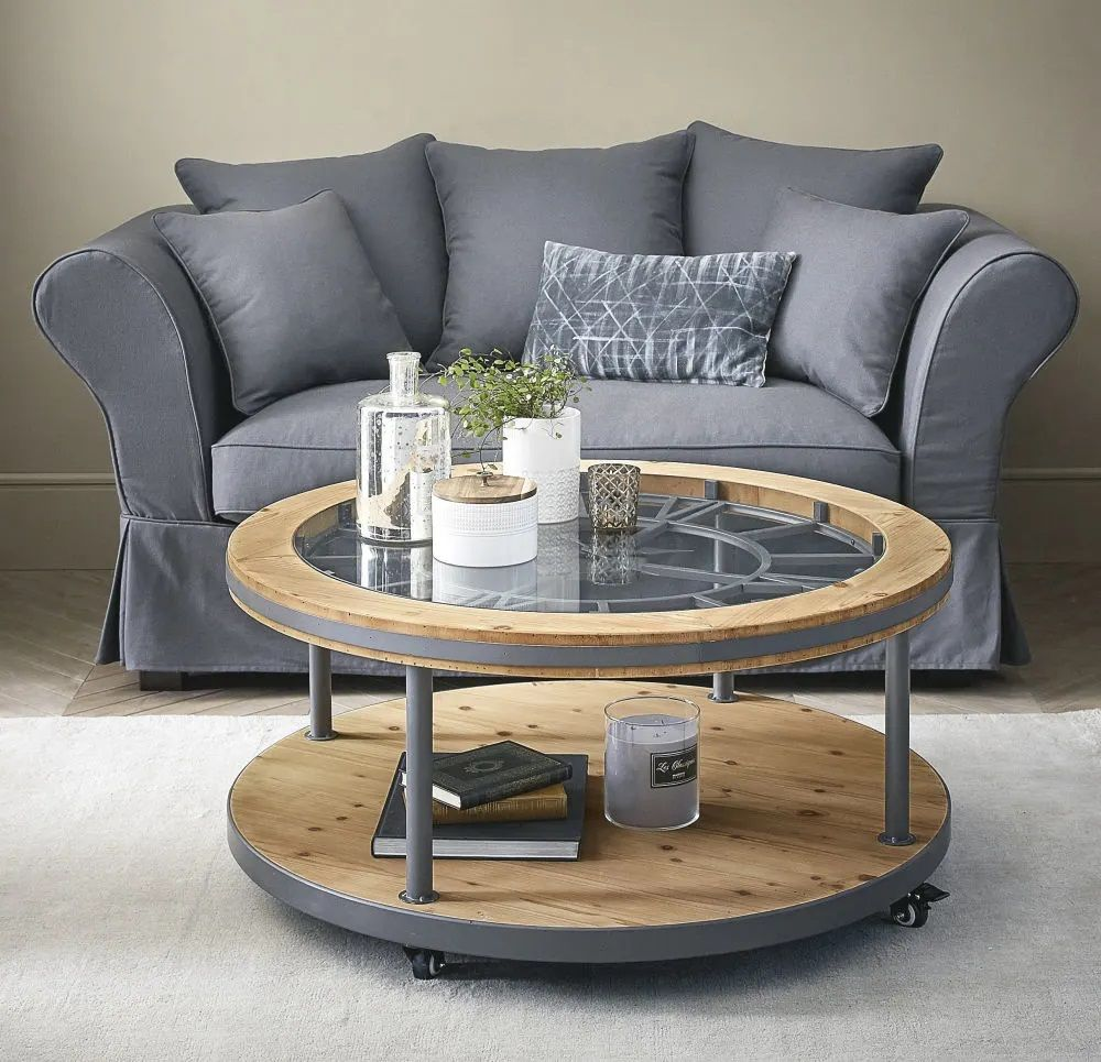 Table Basse Ronde Horloge Burton Table Basse Maisons Du Monde En