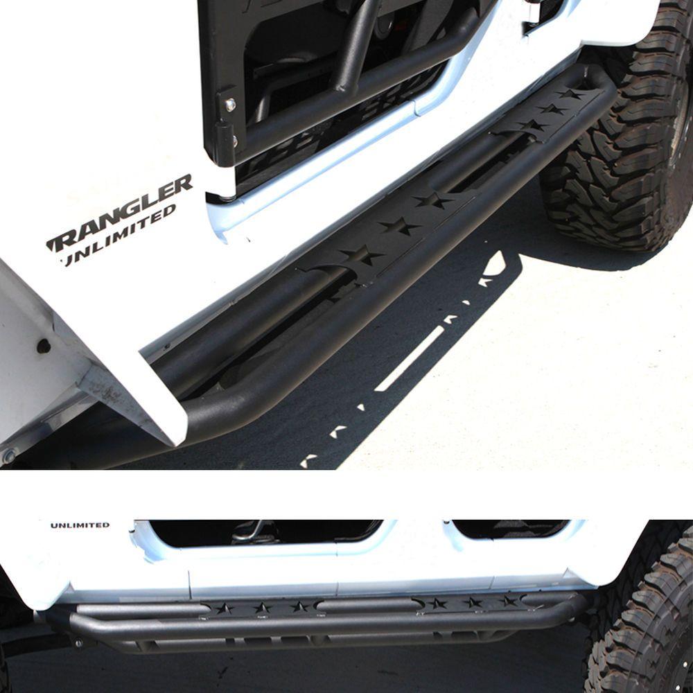Rock Crawler Side Armor Step Bar Running Board for 2007-2016 Jeep Wrangler JK 2D