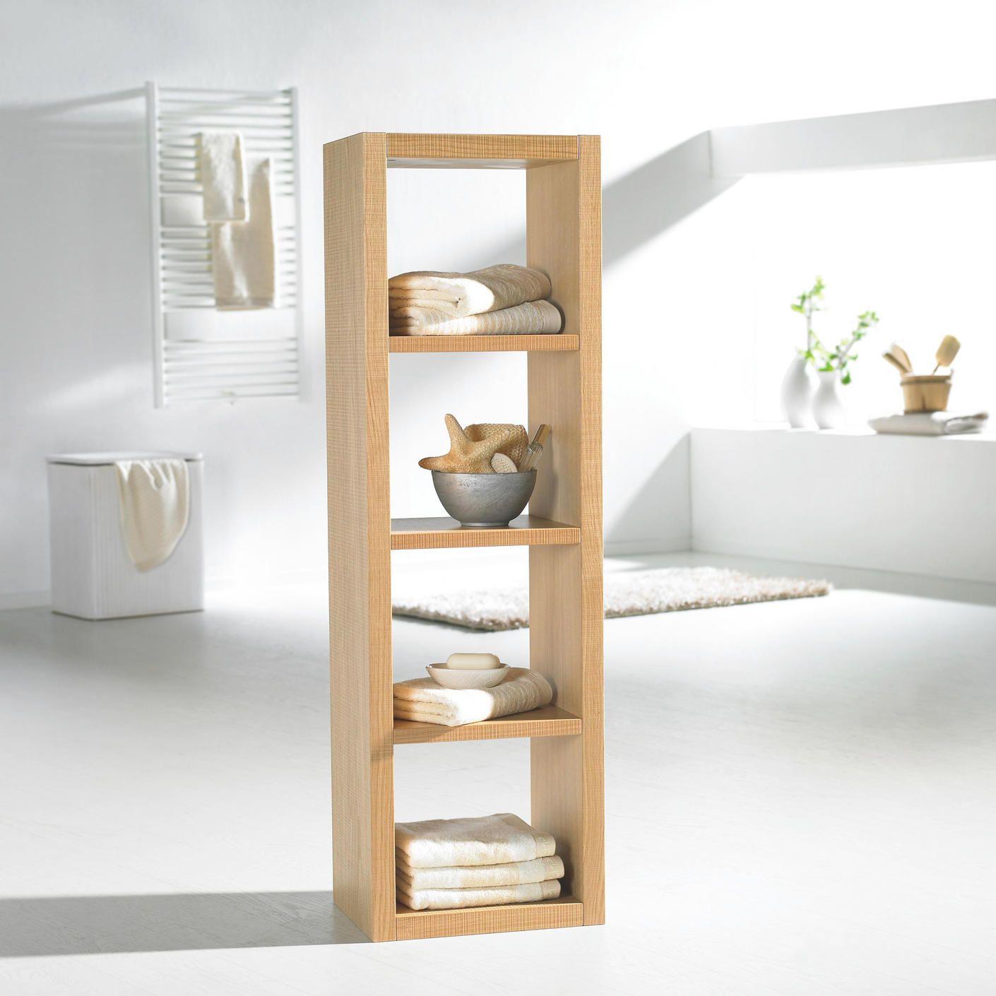 Regal In 40 167 30 Cm Weiss Eichefarben Online Kaufen Xxxlutz Badezimmer Regal Holz Regal Regal Holz