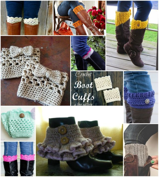 DIY Crochet Boot Cuffs Free Patterns | www.FabArtDIY.com ...