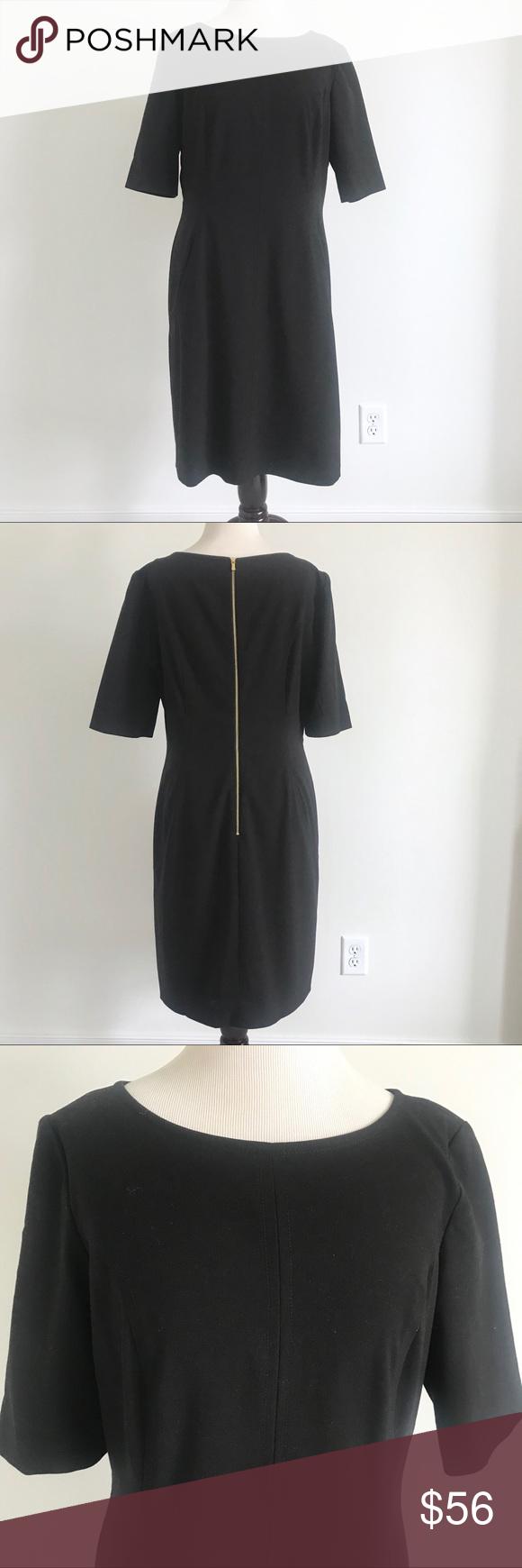Tahari Asl Black Darted Front Suit Sheath Dress Sheath Dress Clothes Design Tahari Dress [ 1740 x 580 Pixel ]