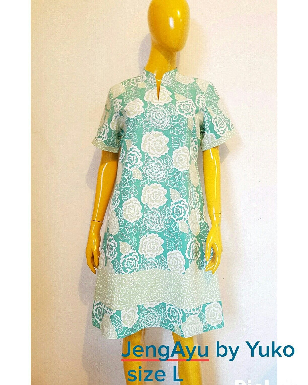 Batik Stamp Cap Warna Pastel Dress Simple Co Untuk Suasana Semi Formal
