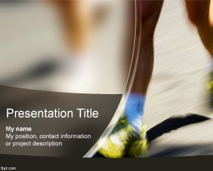 Free Marathon Powerpoint Template For Sports Presentations  Sport