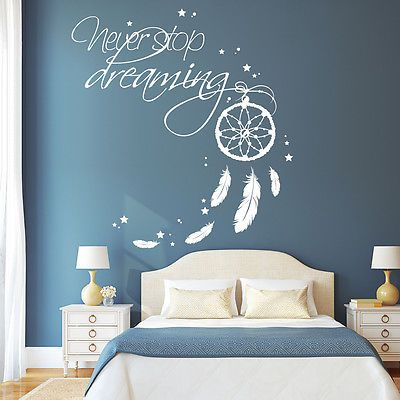 10638 wandtattoo loft stickers muraux ne jamais arr ter de r ver capteur r ves indien. Black Bedroom Furniture Sets. Home Design Ideas