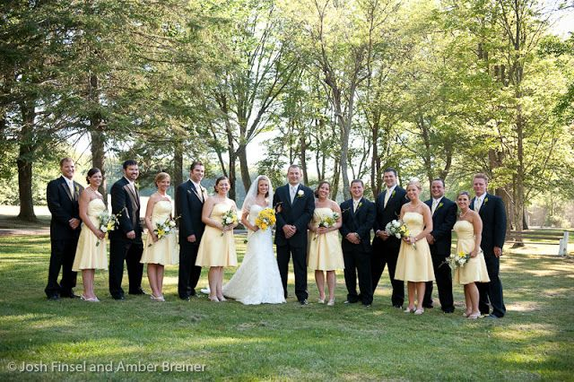 Yellow theme Springtime wedding in the Poconos Pennsylvania