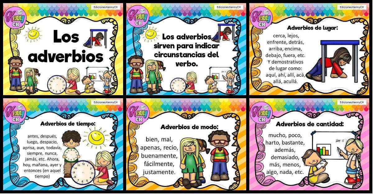 Tarjetas Para Trabajar Los Adverbios Adverbios Adverbios De Cantidad Verbos Y Adjetivos