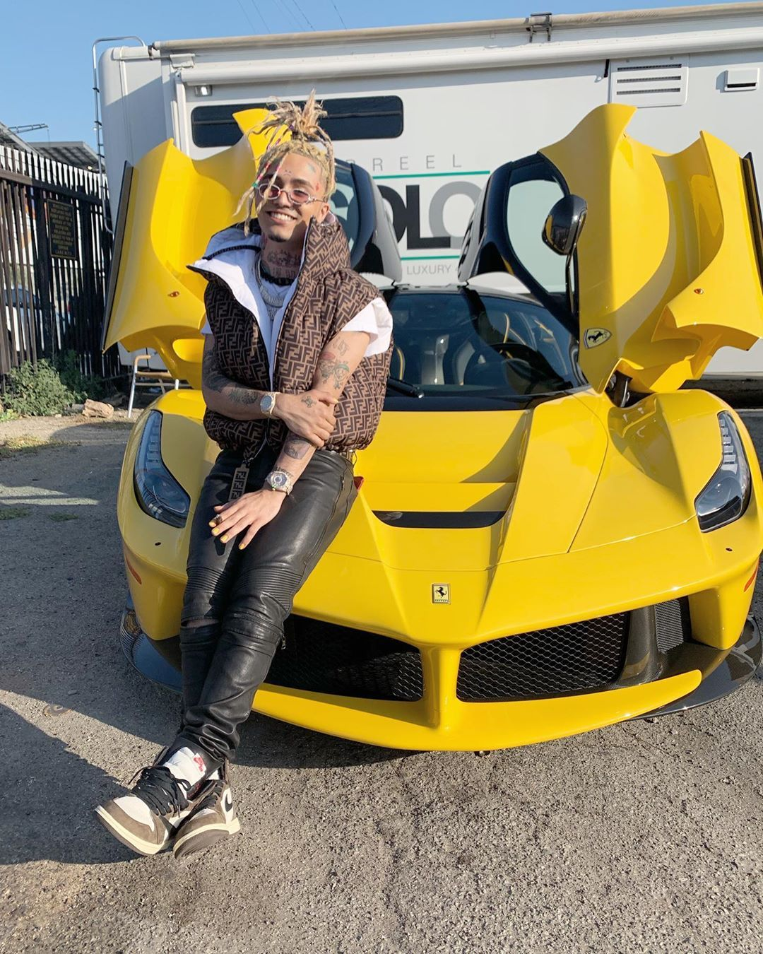 """lilpump on Instagram """"BUTTERFLY DOORS 🦋🧚🏻♀️ SPACE COUPE"""