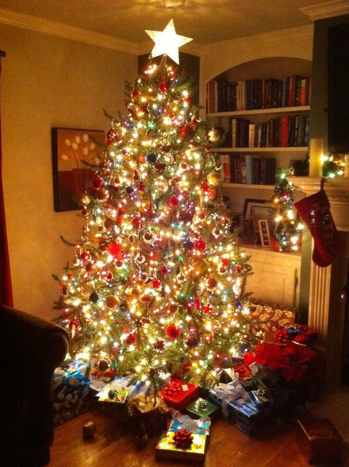 Christmas Tree By Melanie Baker Blair Led Colored And White Lights Beautiful Christmas Tree Lighting Christmas Decorations To Make Christmas Tree