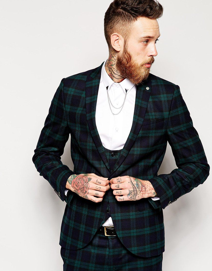 Noose & Monkey Tartan Suit Jacket In Skinny Fit | pur(chase) these ...