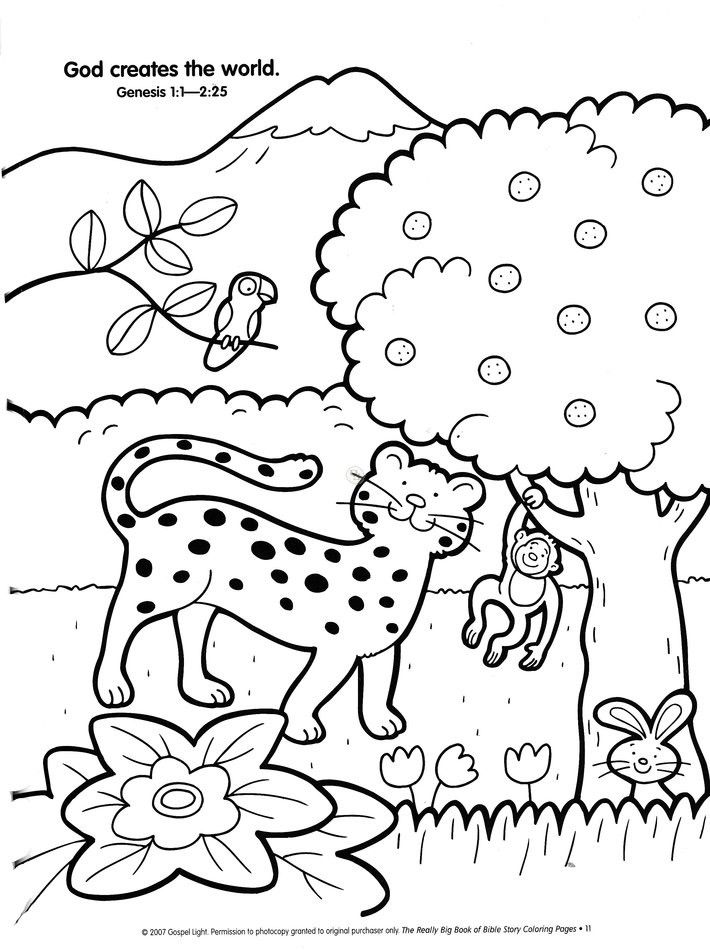 Creation Story Coloring Pages Az