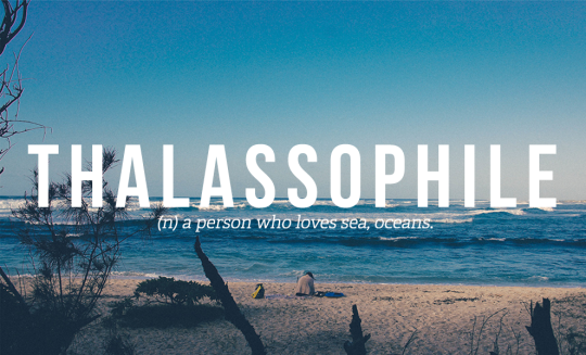 Thalassophile: a person who loves sea, oceans