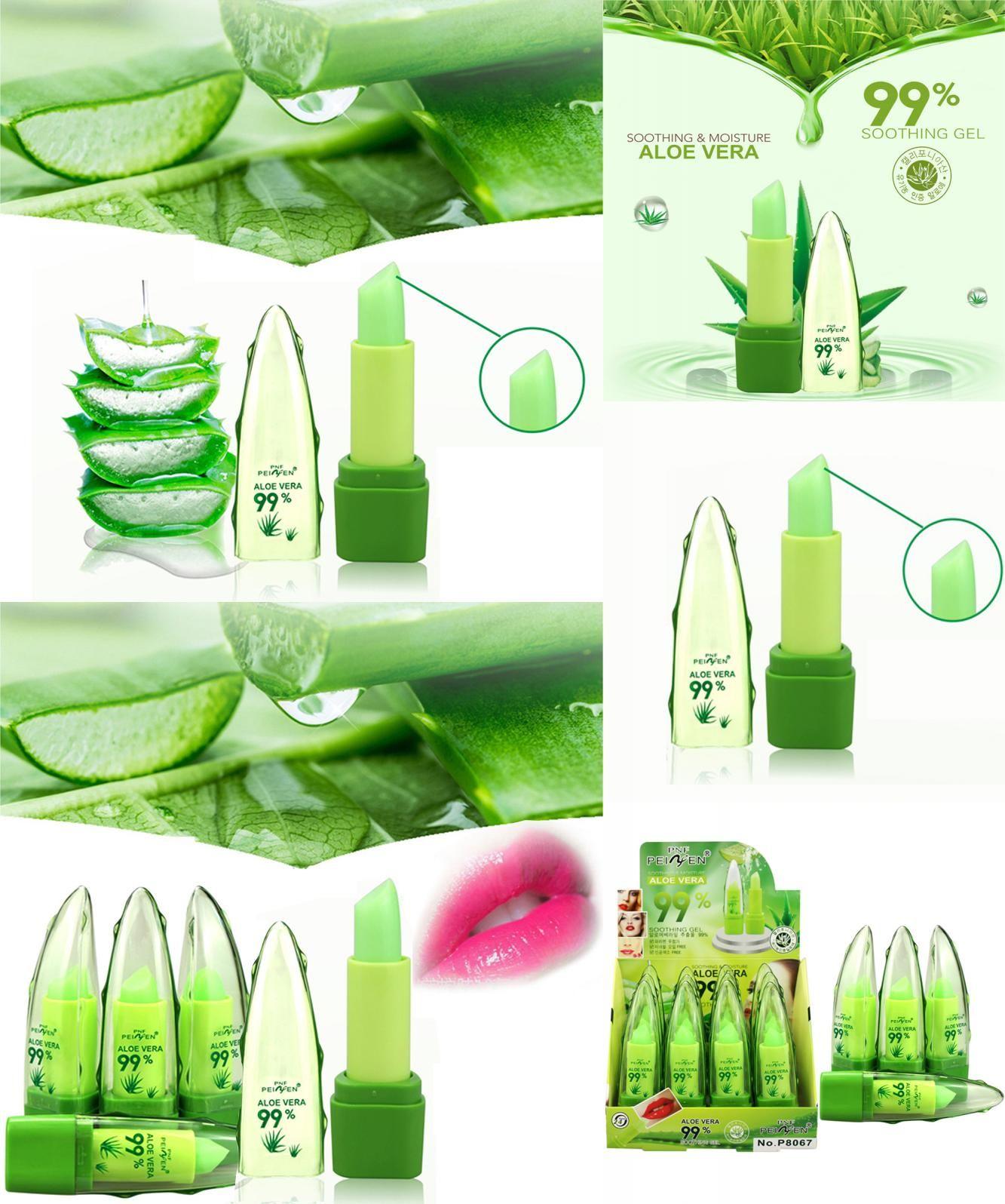 [Visit to Buy] High Quality 99 Aloe Vera Essence Lips