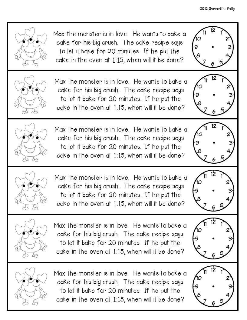 Giveaway New Math Journals Freebie Math Journals Time Worksheets February Math [ 1056 x 816 Pixel ]