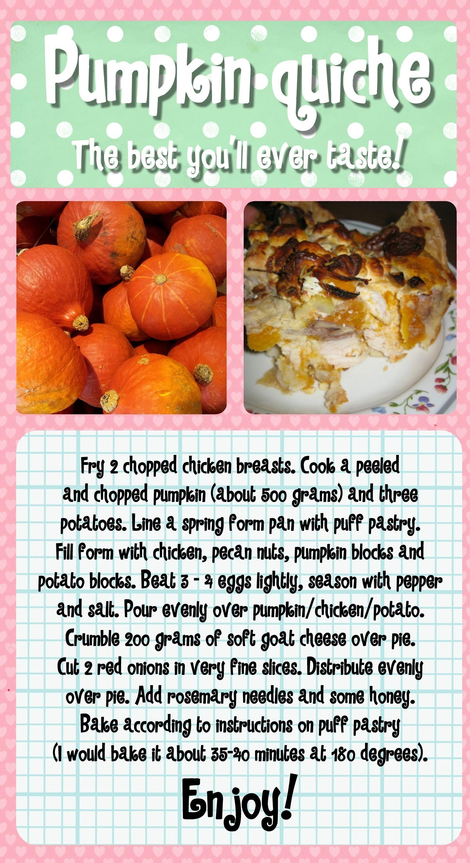 Best pumpkin pie ever! It's a yummy quiche!