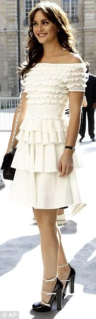 Leighton Meester at Paris Fashion Week... shoes