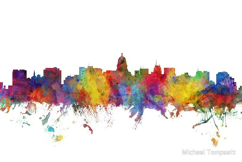 Madison Wisconsin Skyline Posters Art Prints Cityscape Art Art Prints