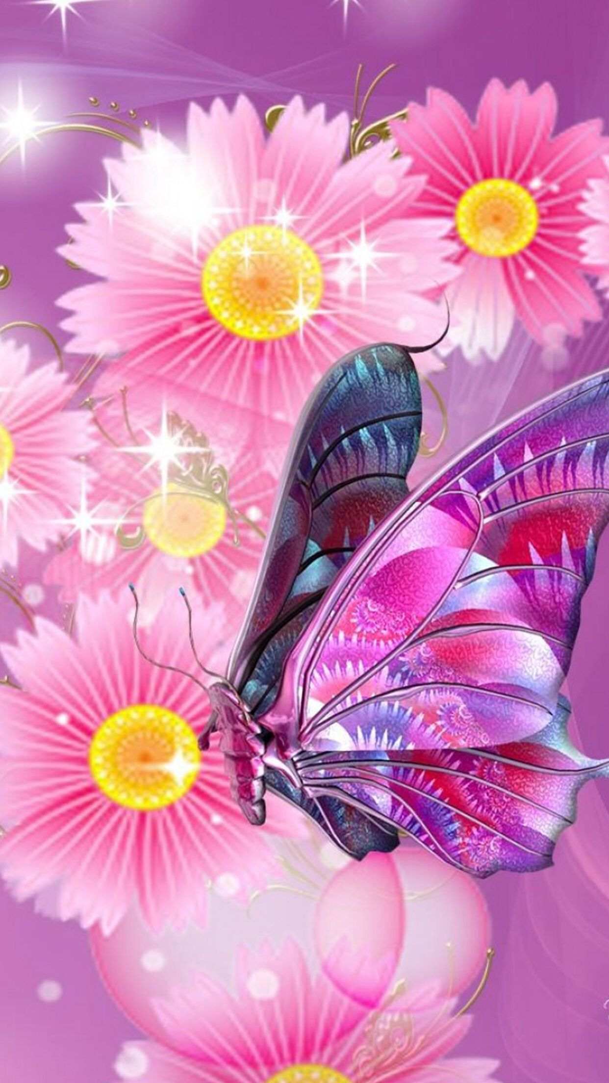 I Just Customized My Lock Screen Using This App This App Has Amazing Collection Of Pi Butterfly Wallpaper Beautiful Butterflies Art Butterfly Wallpaper Iphone