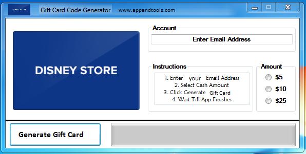 Disney Store Gift Card Generator I Got My Gift Again Thank You