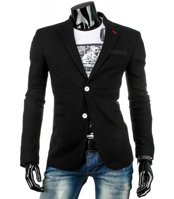 2580f418cbb5 Ležérne pánske sako. Módny dizajn a jedinečný vzhľad. Dve vonkajšie vrecká  a dve vnútorné
