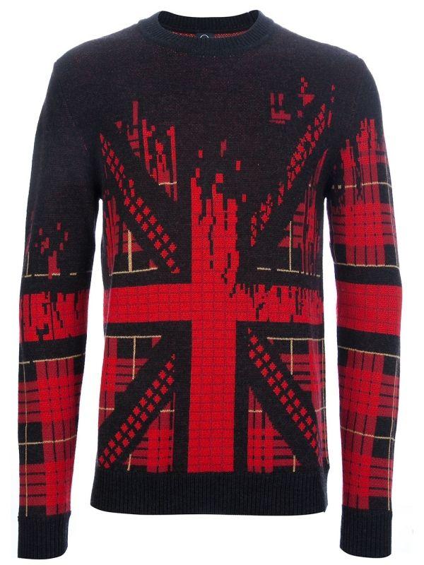 b733d30a14c Ready To Wear. Mens Designer Clothing. MCQ BY ALEXANDER MCQUEEN - Union  Jack knit sweater by farfetch Butch Fashion