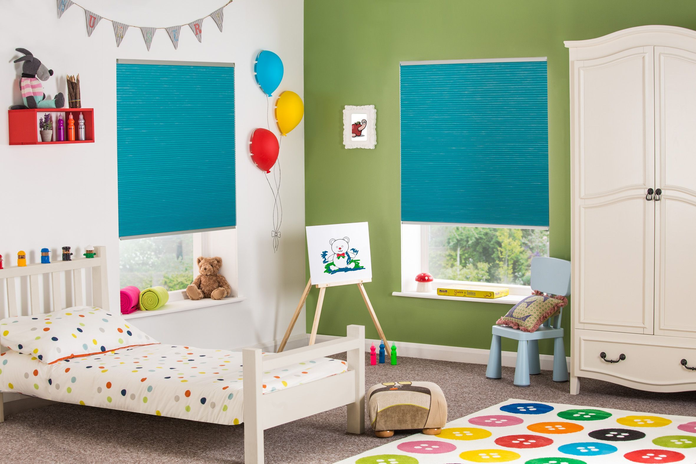 Hive Cellular Blinds From Style Studio Turquoise Blinds Kids Bedroom