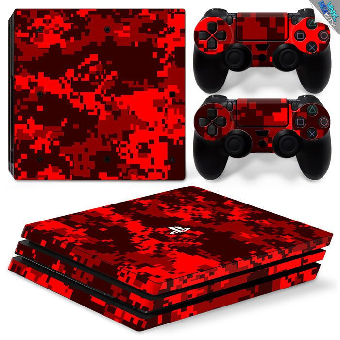 red camo playstation 4 controller