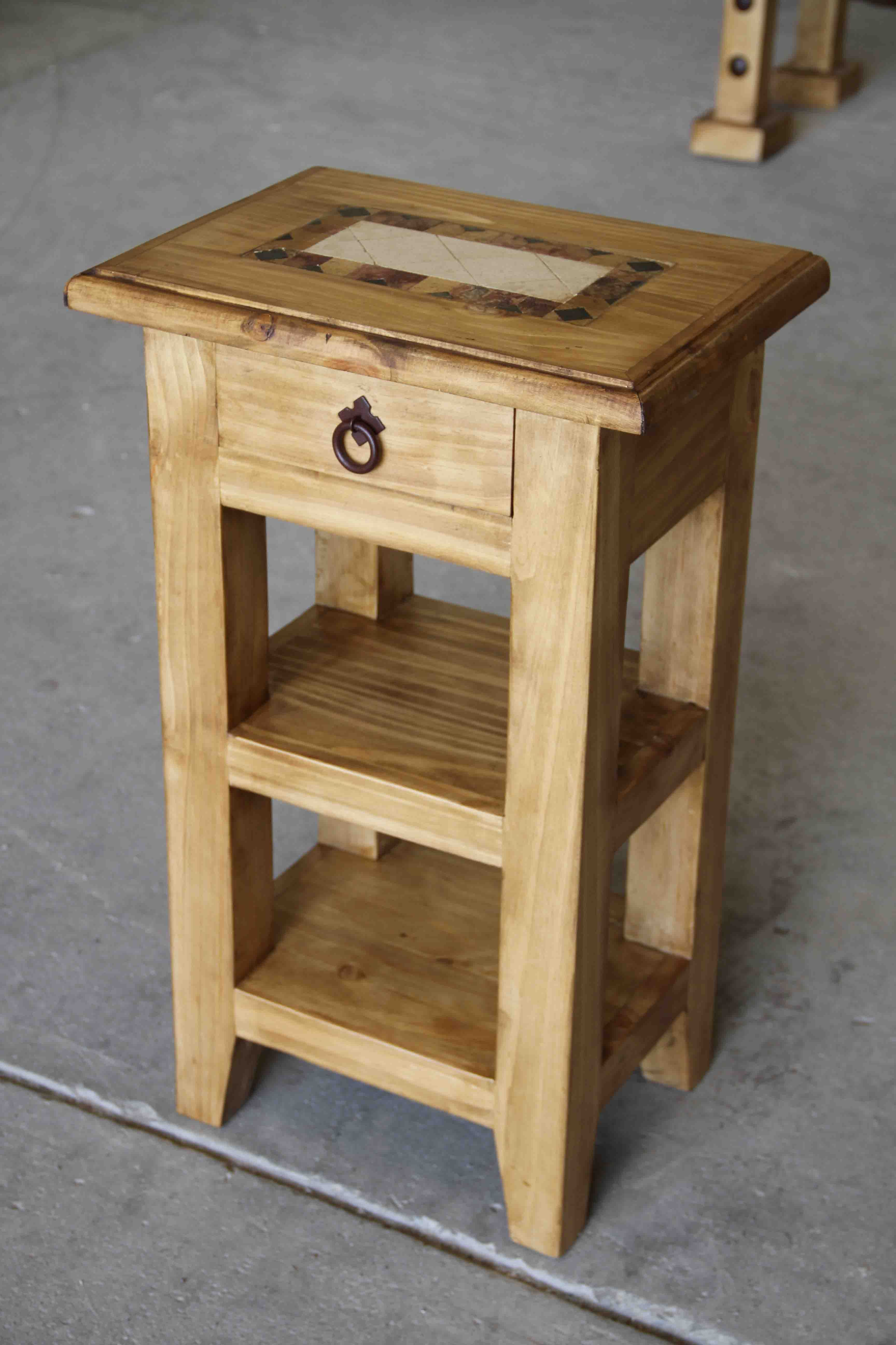Pine Living Room Furniture Small Rustic Pine End Table Living Room Rustic Furniture