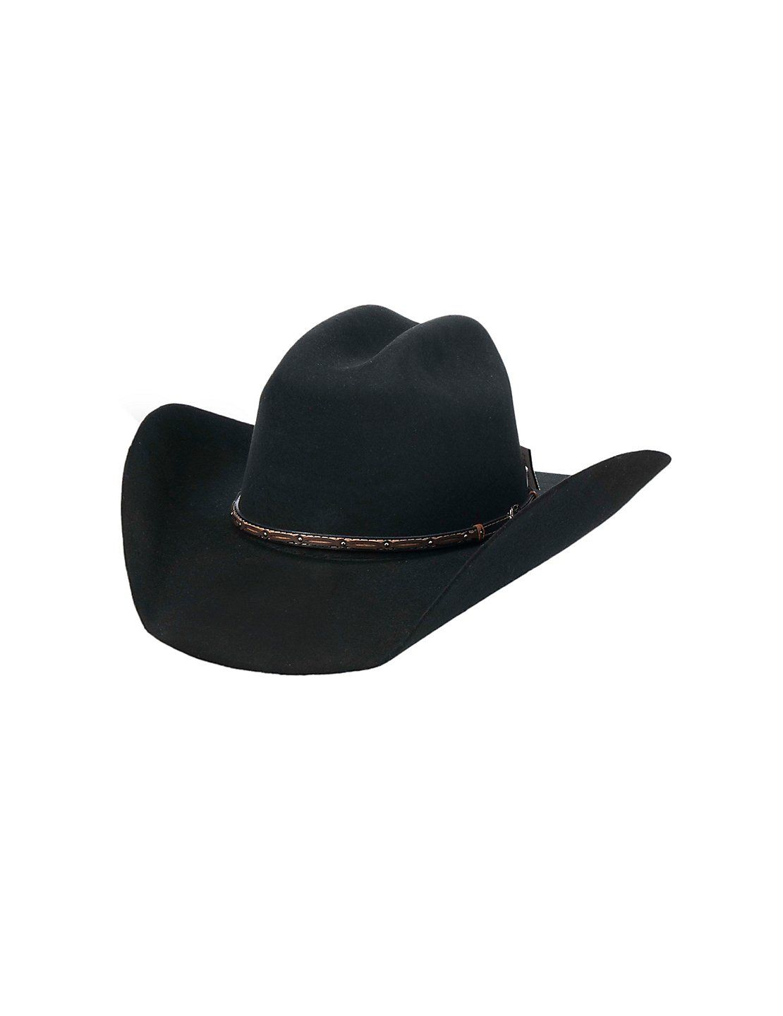 078b883e28a Cavender s Cowboy Collection 3X Black Wool Cowboy Hat
