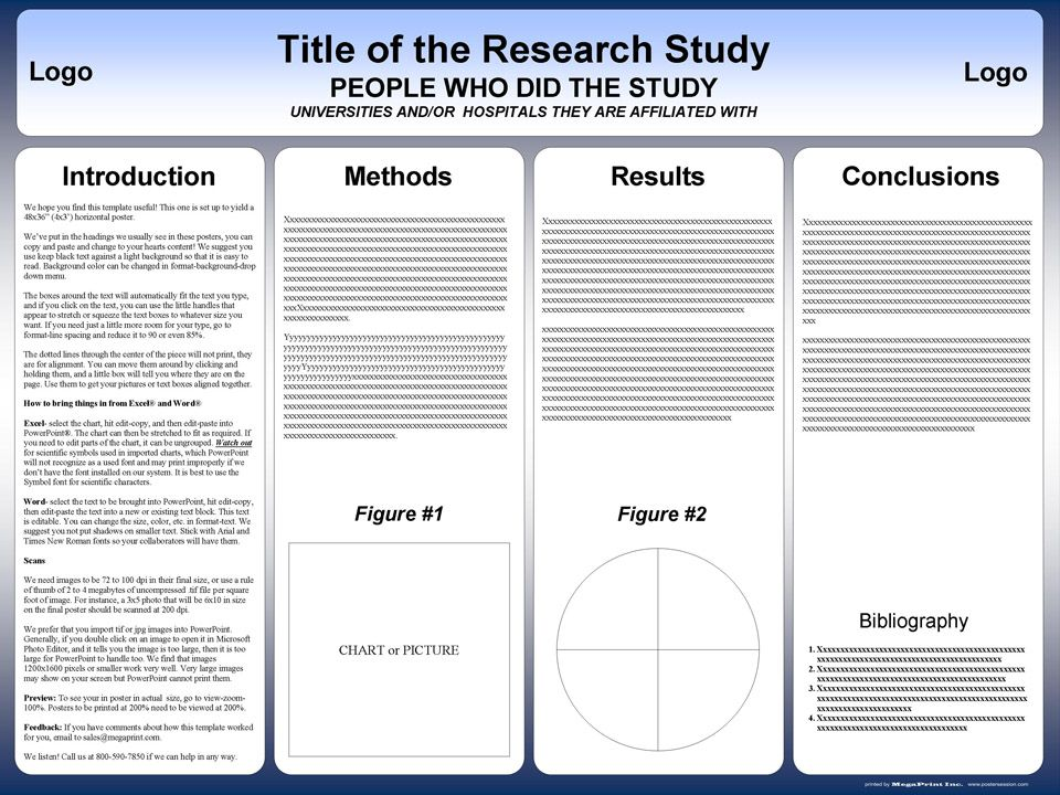 poster presentation template free powerpoint scientific research poster templates for printing
