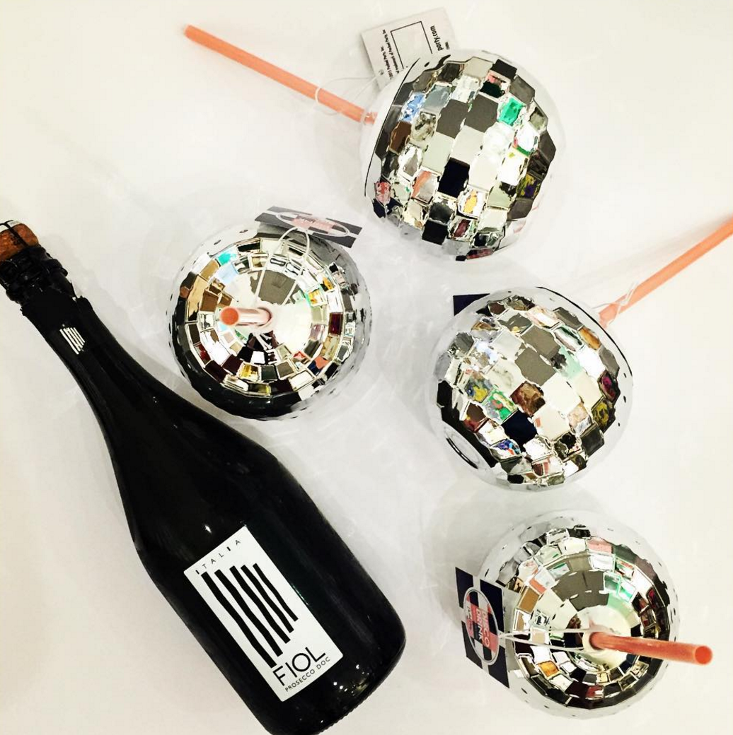 These disco ball cups go perfectly with a little bubbly! https://blueribbongeneralstore.com/