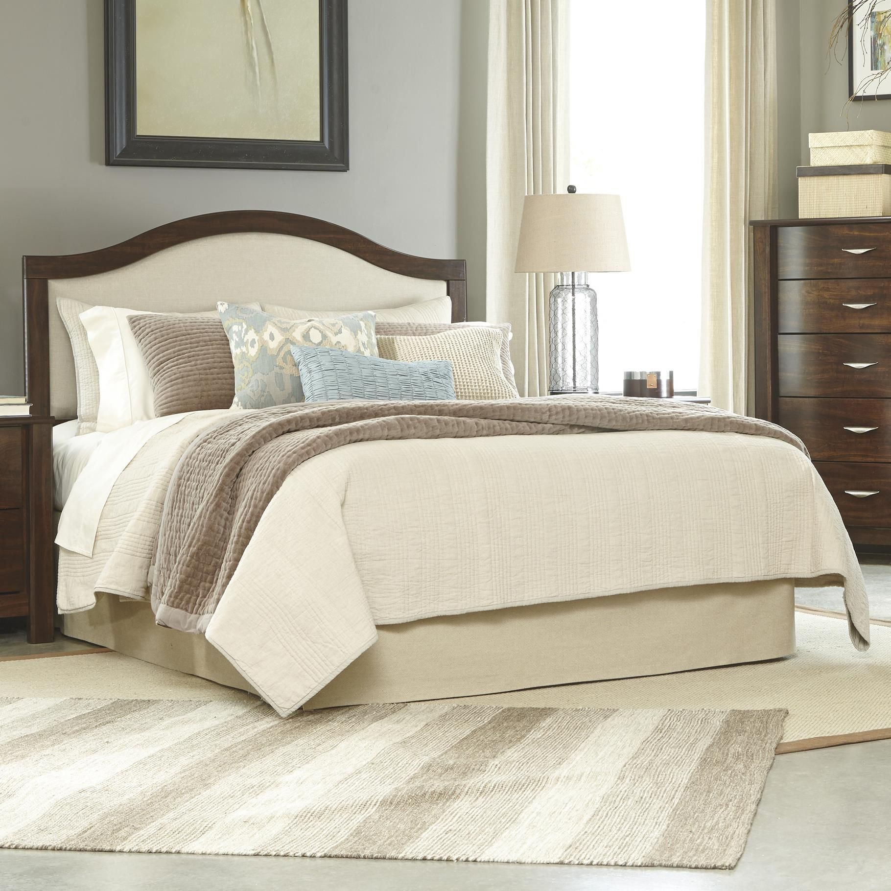 Only $153.00 @ Lindys Furniture Corraya Queen Upholstered Panel Headboard  By Signature Design By Ashley #