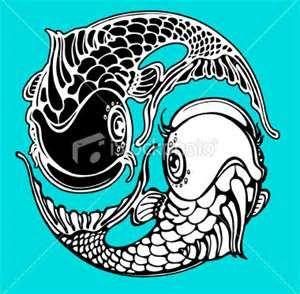 Yin Yang Koi Fish Royalty Free Stock Vector Art Illustration