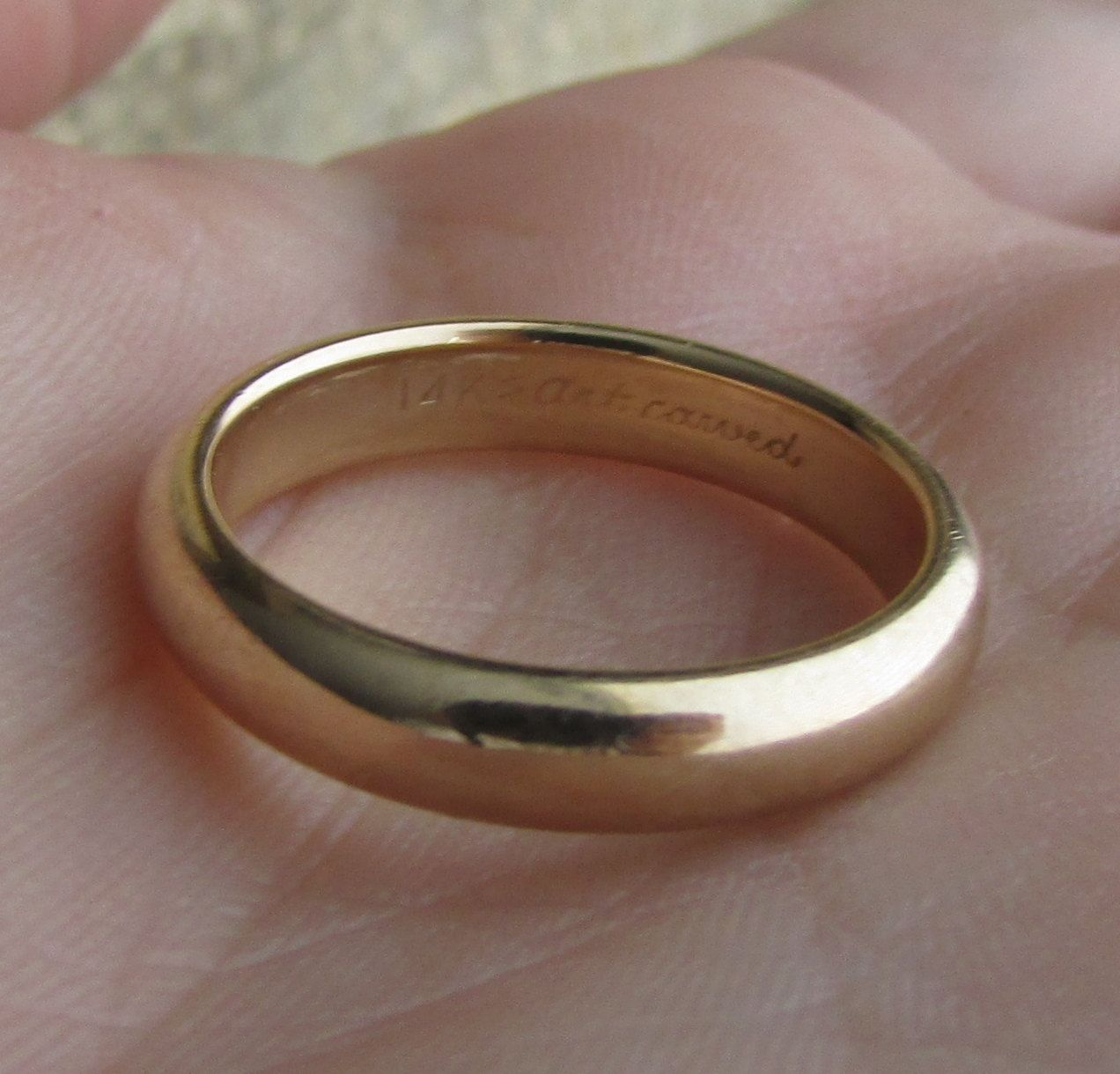 edbb56dbd98df J.R. Wood and Sons / Artcarved Vintage 1950's Solid 14k Yellow Gold ...