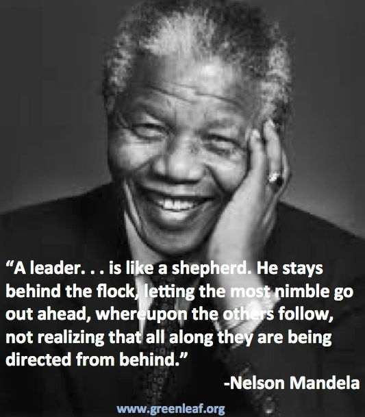 I know a great leader.
