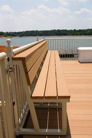 Dock Relaxation, Outdoor Furniture, Lake Living, Dock Bench, Bench