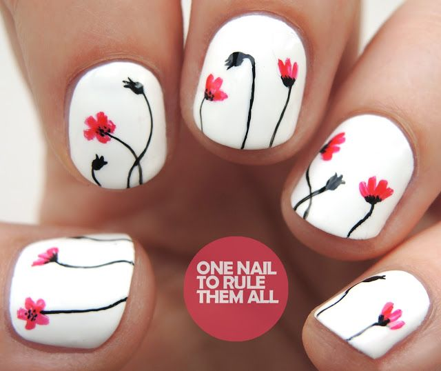 White Poppies Inspired by @ane_li #sharingtheloveforaneli | One Nail To Rule Them All | Bloglovin'