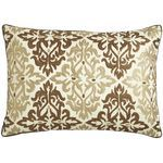 Embroidered Tile Pillow - Neutral