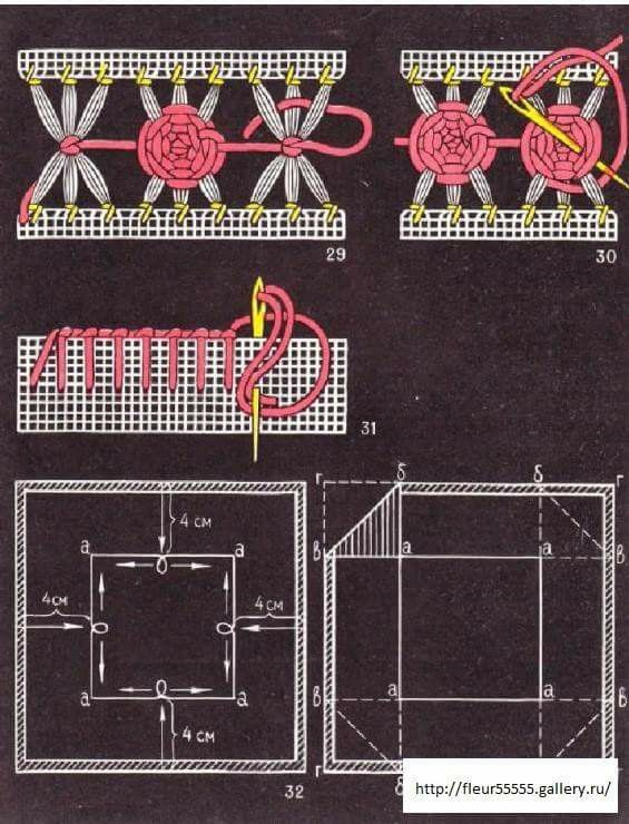 Vainillas/ Deshilados/ Maria L.bertolino/ www.pinterest.com...
