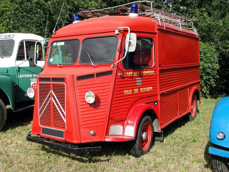 citroen type h v hicule pompiers firetrucks various. Black Bedroom Furniture Sets. Home Design Ideas