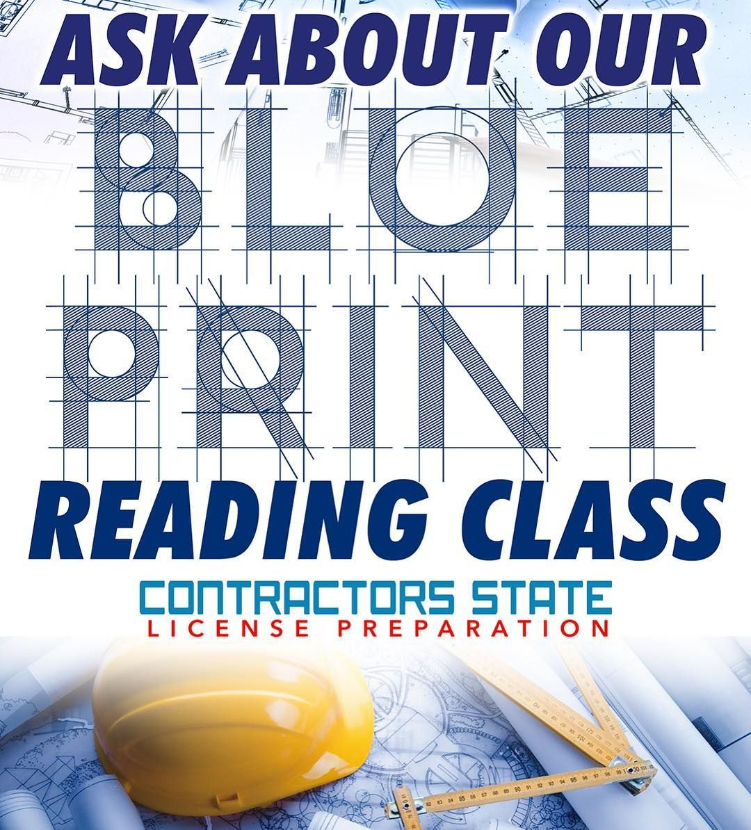 Contractors state license preparation is now offering blue print contractors state license preparation is now offering blue print reading classes malvernweather Choice Image