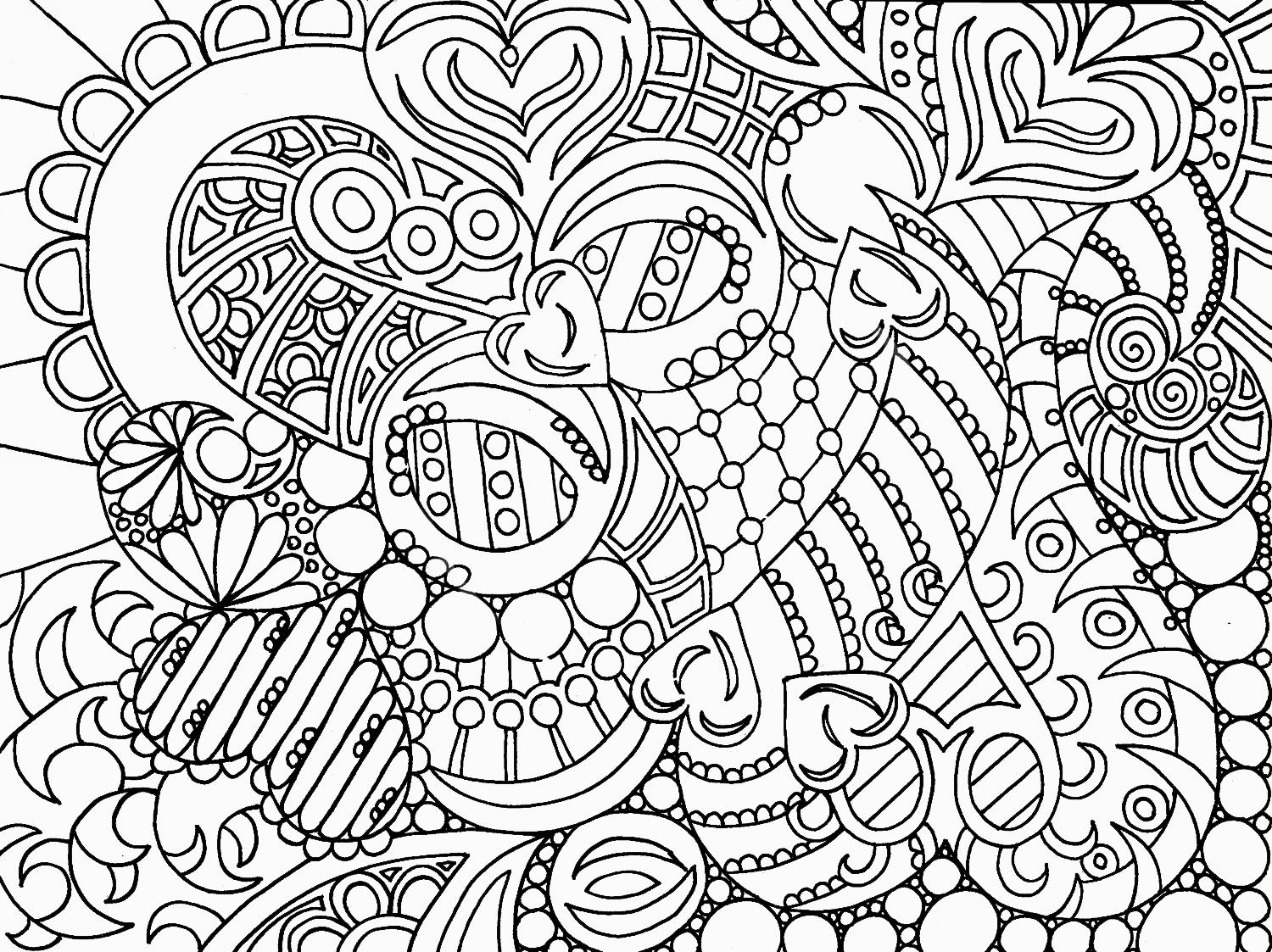 Free coloring pages for adults abstract -