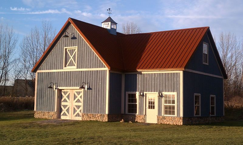Looking for rusted tin roofing for our next roof on the for Red metal barn