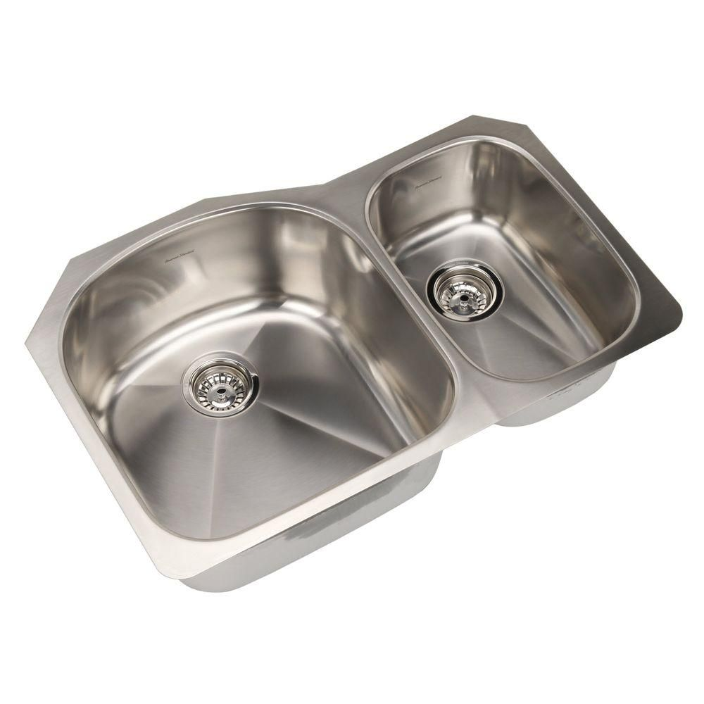 Prevoir Undermount Brushed Stainless Steel 32 In Double