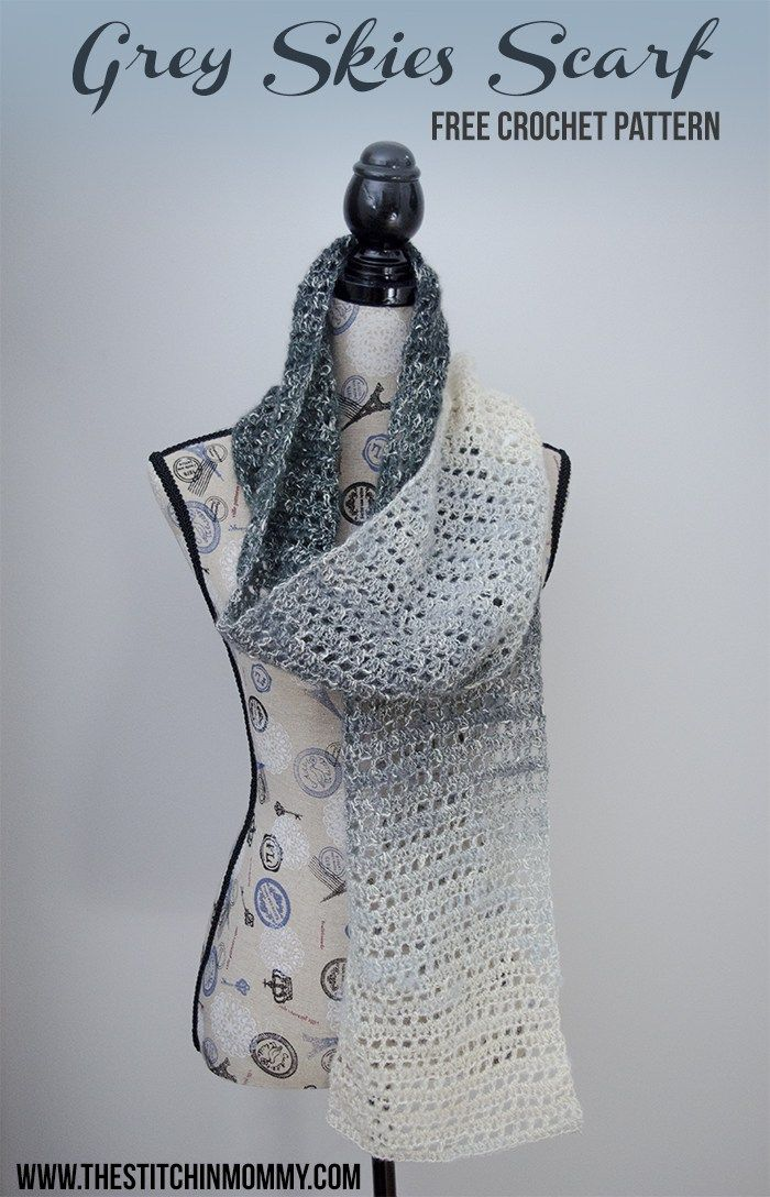 Grey Skies Scarf - Free Crochet Pattern