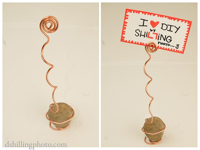 diy place card table number holder